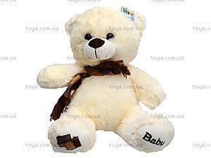 Мягкий медвежонок с шарфом, 70 см, 126970, цена