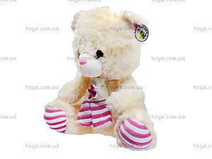 Музыкальный медвежонок с шарфом, 40 см, 327040, купить