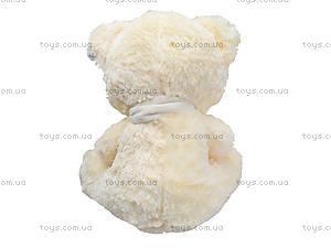 Музыкальный медвежонок с шарфом, 40 см, 327040, фото