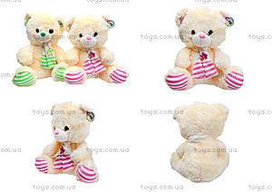 Музыкальный медвежонок с шарфом, 40 см, 327040