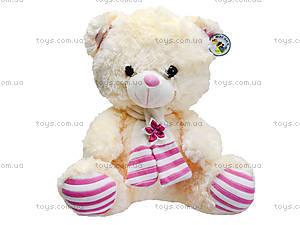 Музыкальный медвежонок с шарфом, 40 см, 327040, цена