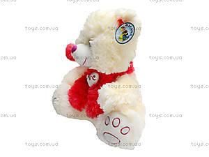 Музыкальный медведь с шарфом в шапке, 343535, купить