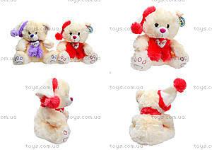 Музыкальный медведь с шарфом в шапке, 343535