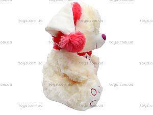 Музыкальный медведь с шарфом в шапке, 343535, цена