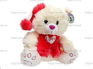 Музыкальный медведь с шарфом в шапке, 343535, игрушки
