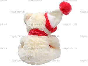 Музыкальный мишка с шарфом в шапке, 343555, фото