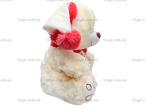 Музыкальный мишка с шарфом в шапке, 343555, цена