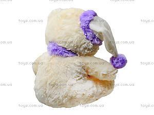 Плюшевый мишка с шарфом в шапке, 343545, купить