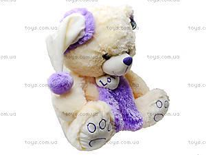 Плюшевый мишка с шарфом в шапке, 343545, цена