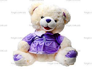Мишка плюшевый в платье, музыаь6ный, 343330, купить