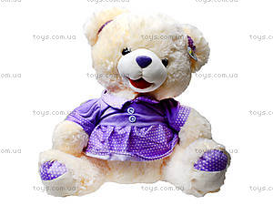 Музыкальный плюшевый медведь в платье, 396935, купить
