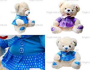Музыкальный плюшевый медведь в платье, 396935
