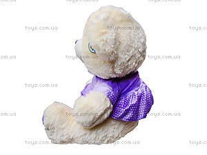 Музыкальный плюшевый медведь в платье, 396935, отзывы