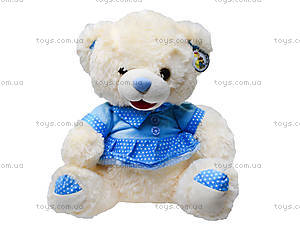 Музыкальный плюшевый медведь в платье, 396935, игрушки