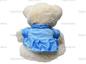 Музыкальный плюшевый медведь в платье, 396935, детские игрушки