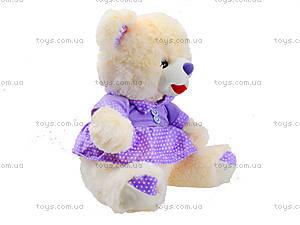 Музыкальный мишка в платье, 396935, купить