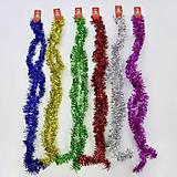 Мишура однотонная, 12 шт в связке, 6 цветов, C30460, фото