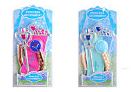 """Набор """"Аксессуары принцессы"""" с косой, 2 вида, WL11223, игрушки"""
