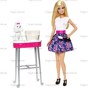 Игровой набор Barbie «Гламурный салон для любимцев», CFN40, купить