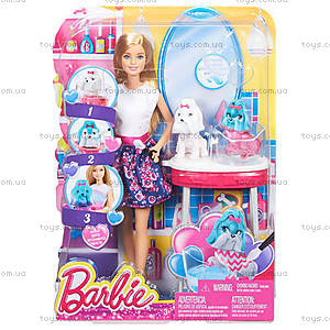 Игровой набор Barbie «Гламурный салон для любимцев», CFN40