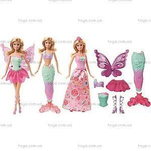 Набор с куклой Barbie «Сказочное перевоплощение», DHC39, фото