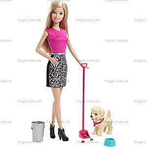 Набор Barbie «Веселая прогулка с любимцем», CFN43, купить