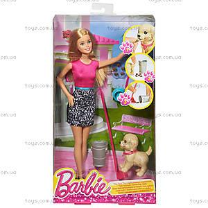 Набор Barbie «Веселая прогулка с любимцем», CFN43