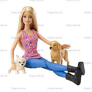 Игровой набор «Барби со щенками на прогулке», CLD94, купить