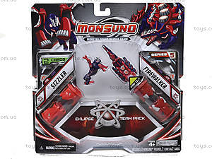 Игровой набор для битвы Monsuno Eklipse SIZZLER и FIREWALKER, 34440-42938-MO
