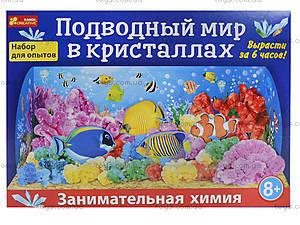 Набор для опытов «Подводный мир в кристаллах», 0260-1, детские игрушки