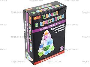 Набор для опытов «Ёлка в кристаллах», разноцветная, 0258, детские игрушки