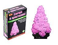 Набор для опытов «Ёлка в кристаллах», розовая, 0256