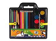 Набор для рисования 5 в 1 с красками и мелками, ZB.6400, фото