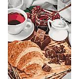 """Набор для росписи по номерам """"Французский завтрак"""" 40 * 50см, КНО5573, іграшки"""