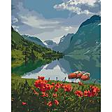 "Рисование по номерам ""Красота Норвегии"" 40*50 см, КНО2256, игрушки"