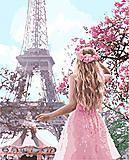 Набор картина по номерам «Влюбленная в Париж 2», КНО4568, тойс