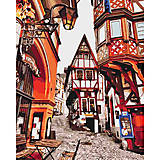 "Рисование по номерам ""Яркие улочки Германии"" 40*50 см, КНО3539, фото"