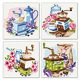Картина по номерам 4 картинки в1 «Полиптих: Цветочный кофе» ★★★, KNP018, купить