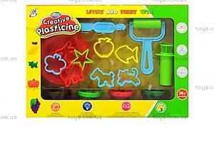 Детский набор для творчества, пластилин с формочками, 1211A