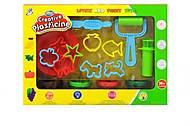 Детский набор для творчества, пластилин с формочками, 1211A, купить