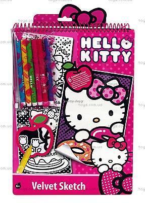 Набор для творчества с бархатной раскраской Hello Kitty, 1023-59892
