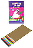 Набор двухстороннего цветного картона, формат А4, 9 л, глянцевые, КДК-А4-9, цена