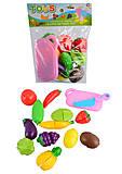 Набор фруктов и овощей, делятся пополам, 15 предметов, 188-2, фото