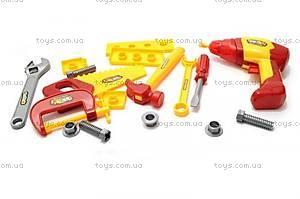 Детский набор инструментов с шуруповертом, 0717-C