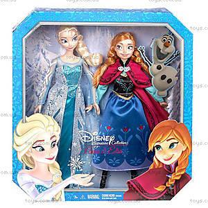 Набор коллекционных кукол «Анна и Эльза» из  м/ф «Холодное сердце», CKL63