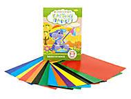 Набор цветного одностороннего картона и бумаги А4, 7+7 листов, НКП-А4-7, отзывы