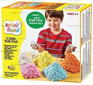 Комплект для игры с песком Angel Sand, 5 цветов, MA06011