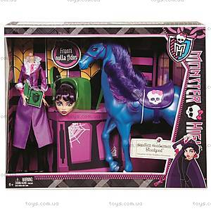 Набор кукол Monster High «Директриса Бладгуд и конь Кошмар», BBK21, фото