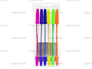Набор ручек шариковых, 6 цветов, 52306-TK, фото