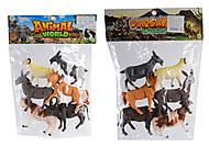 """Игровой набор для деток """"Домашние Животные"""" 6 штук, HJ688-3, купить"""